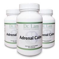 Adrenal Calm by Dr. Lam (New and Improved!) - 90 Capsules - 3 Bottle Pack