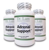 Adrenal Support by Dr. Lam - 150 Vegetarian Capsules - 3 Bottles