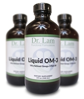 Liquid OM-3 by Dr. Lam. - 3 Bottle Pack - 8 oz