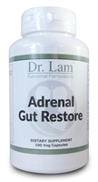 Adrenal Gut Restore by Dr. Lam - 100 Vegetarian Capsules - 1 Bottle