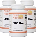 EPO Pro by Pure Horizon - 60 Softgels - 3 Bottle Pack